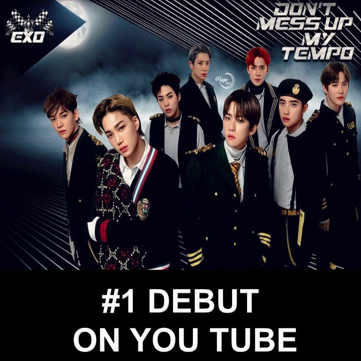 #EXO's new music video for their comeback Single #Tempo makes fierce debut at #1 on You Tube with 17,048,689 views in first 24 hours!👏1⃣🎞️💥🕺🕺🕺🕺🕺🕺🕺🕺🔥👑 https://t.co/Im3S9VxphY