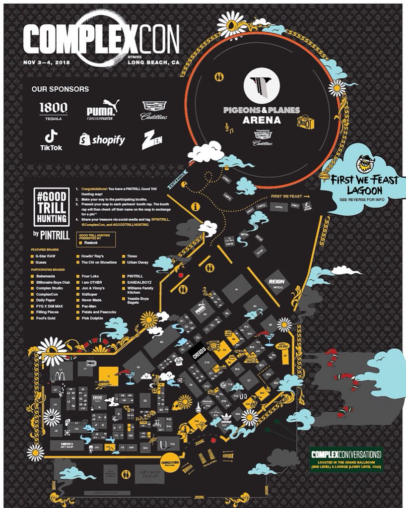 This year @ComplexCon, our #GoodTrillHunting map is not just a map available at our booth, but is the Con-wide map. We started the hunt in 2016 at #ComplexCon, & it's amazing to see what it has become! 🙌 Grab a map at the info desks or our booth (F2)! Shouts to all the brands 🌊