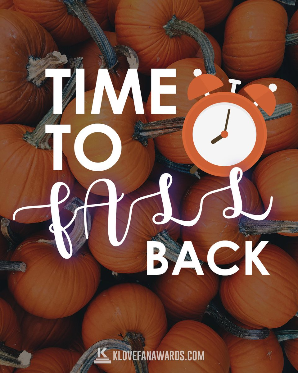 Don't forget it's time to 'Fall Back' tonight. How will you use your extra hour?