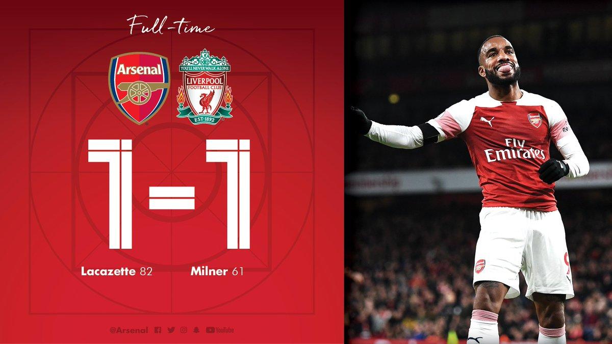 Chấm điểm kết quả Arsenal 1-1 Liverpool