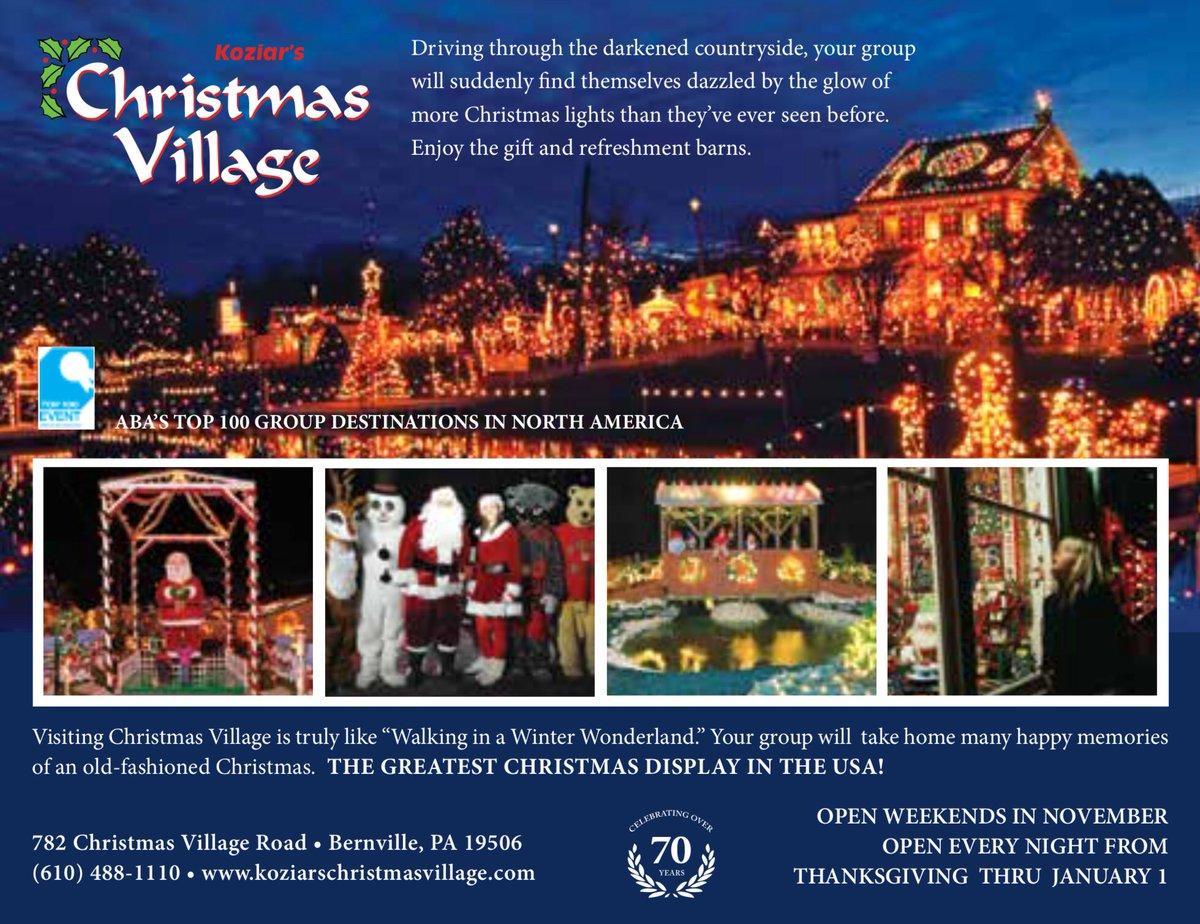 Christmas Village Pa.Christmas Village Koziars Twitter