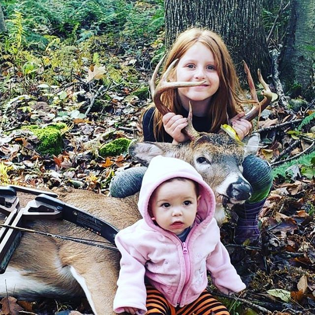 Replying to @Scent_Blaster: Congratulations Haddie on your first archery buck!! #bowhunting #archery #deerhunting #hunting #deer #whitetail #scentblaster