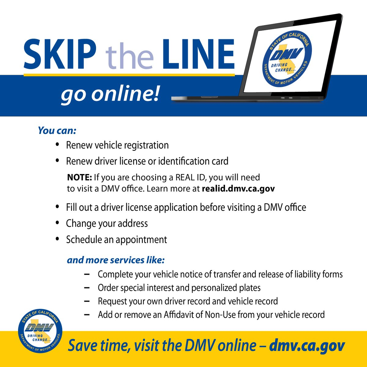 Pay Registration Online Ca >> Ca Dmv On Twitter Did You Know That You Can Renew Your