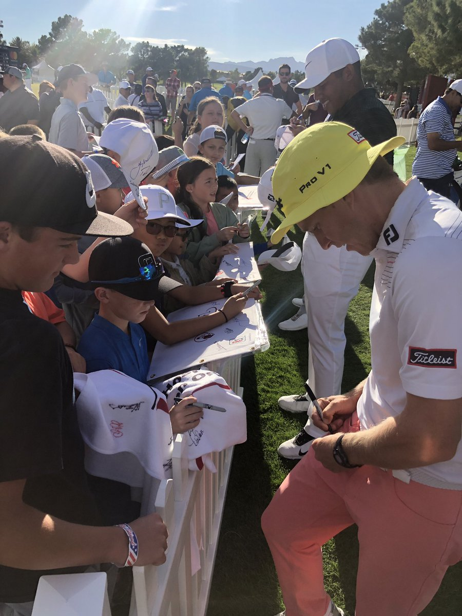 Our kidzone is a hotspot at #SHCO18! Thank you to all of the @pgatour pros for stopping to signing autographs for the little ones this weekend.