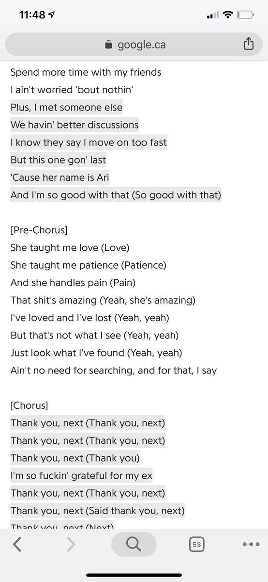 thank you next lyrics song