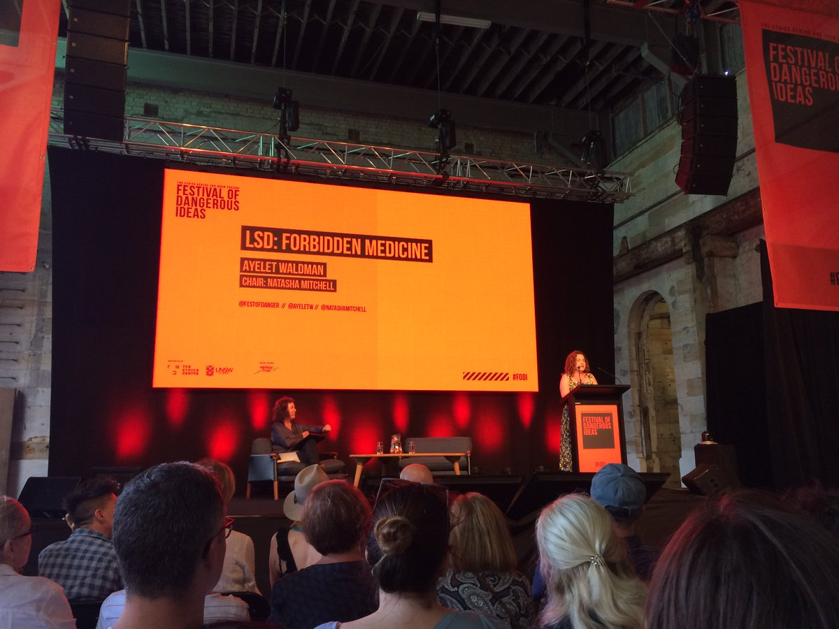 Festival Of Dangerous Ideas On Twitter A Packed Out Room For Ayeletw S Keynote Talk Lsd Forbidden Medicine Fodi