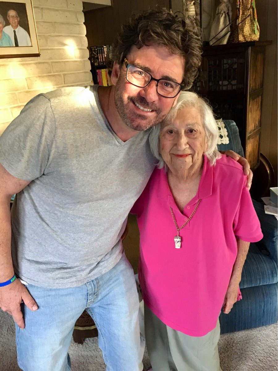 Met up with my friend Arpie Dick for the first time in far too long today.  Good to see this loyal @Fresno_State sports fan just before her 88th  birthday!