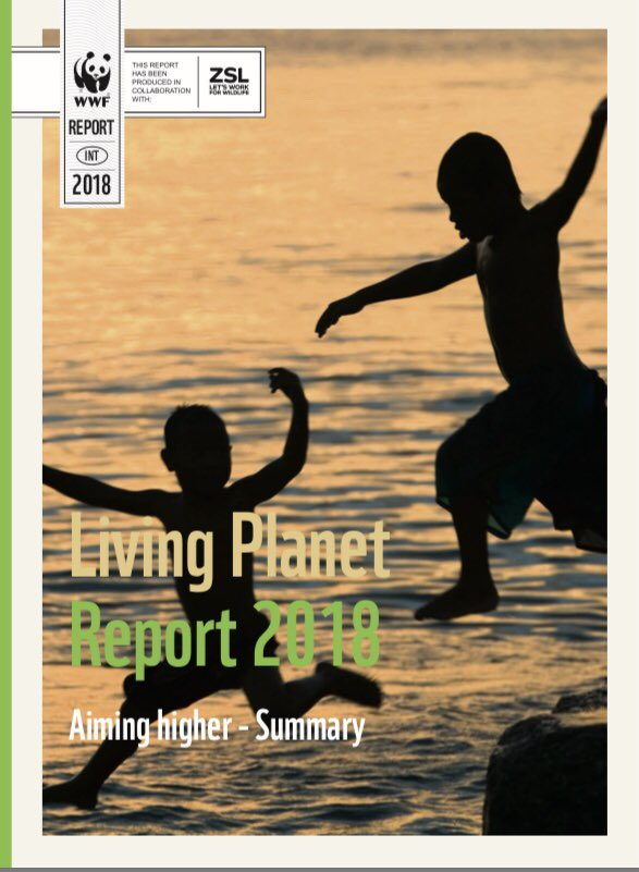 RT @WWF_DG Our LivingPlanetReport 2018. Key messages: 1. We are losing #nature and #biodiversity at unprecedented rate 2. We are the cause  3. It's dangerous for us as much as #ClimateChange  4. We can halt this,it's urgent,we need a 'New Deal for Nature'  #LPR2018   https://t.co/EAVzG5uWJA