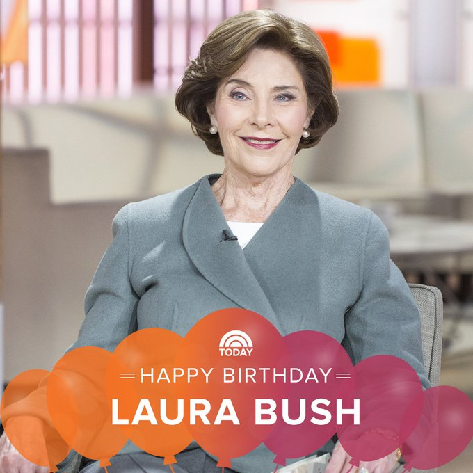 Happy birthday to former first lady Laura Bush!