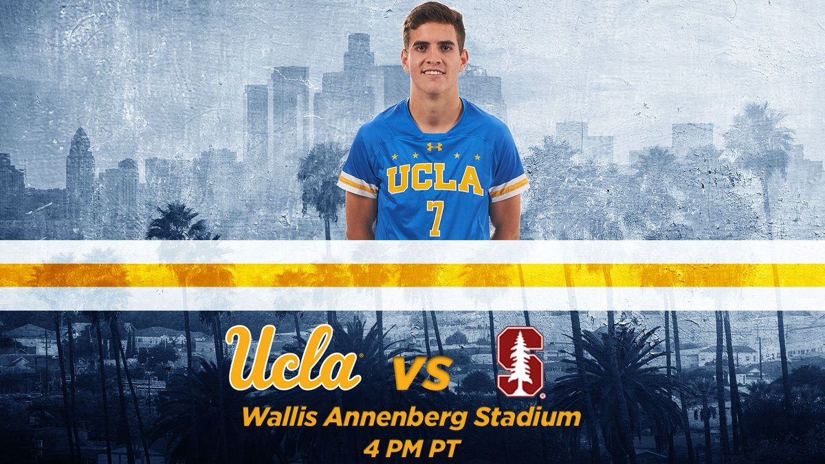 GAMEDAY! ⚽️: @UCLAMSoccer vs Stanford ⌚️: 4 PM 📍: Wallis Annenberg Stadium #GoBruins
