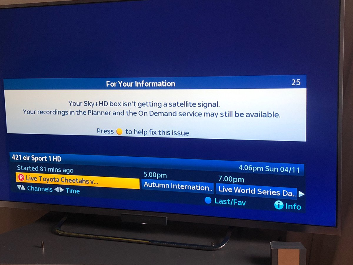 Your Sky Hd Box Isn T Getting A Satellite Signal >> Eir Sport On Twitter Hi Eoghan We Have No Control Of The