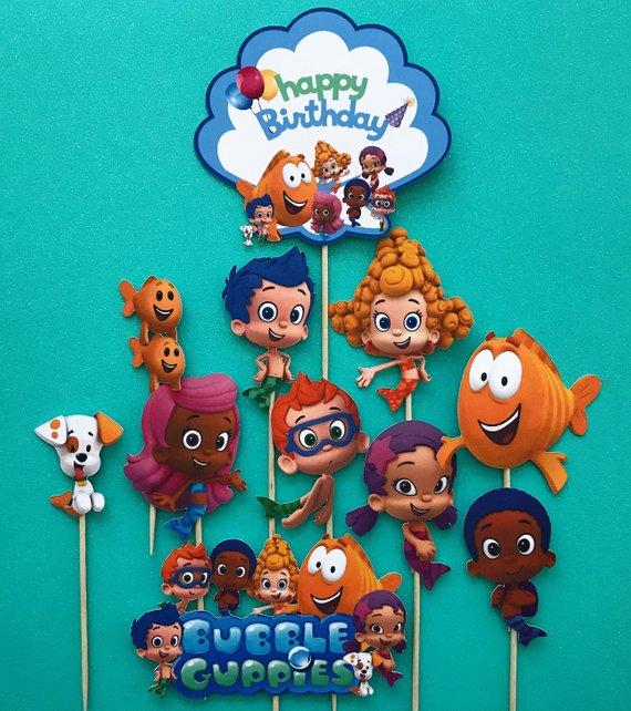 Fine Bubbleguppiescake Hashtag On Twitter Personalised Birthday Cards Veneteletsinfo