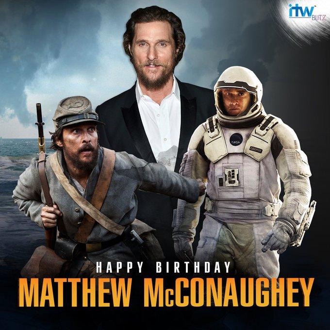 Wishing the Hollywood star  Matthew McConaughey a very happy birthday!