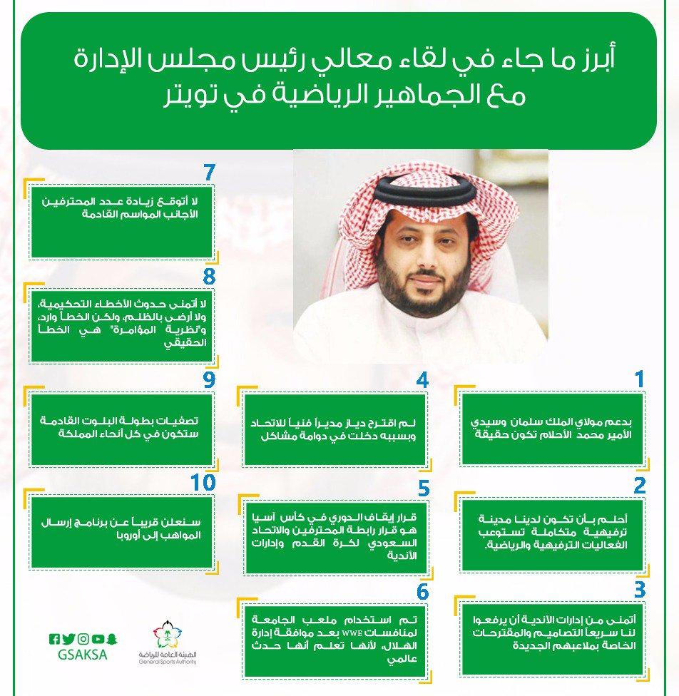 معالي تركي ال الشيخ عبر تويتر/الاتحاد في عيوني ... الشتاء الوعد