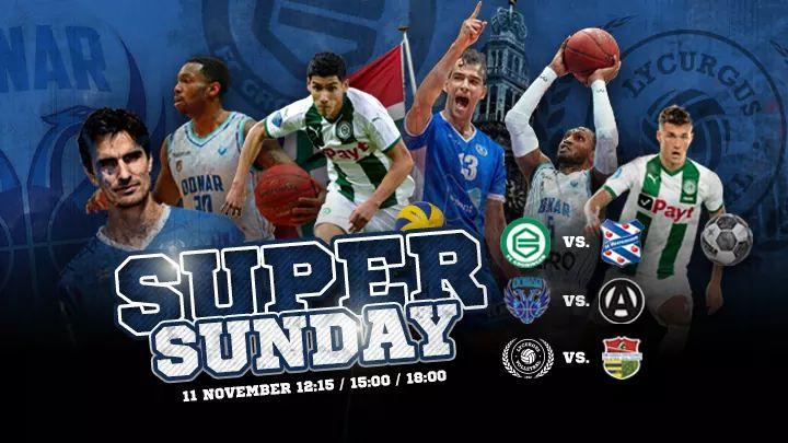 Nog twee dagen tot #superSunday waarin de drie noordelijke topclubs thuisspelen in Groningen! Momenteel lekker druk in Tckl waar sponsoren van @fcgroningen @Donar_Official en natuurlijk @LycurgusVolley hun gasten uitnodigen voor deze bijzondere dag! #volleybal #basketbal #voetbal