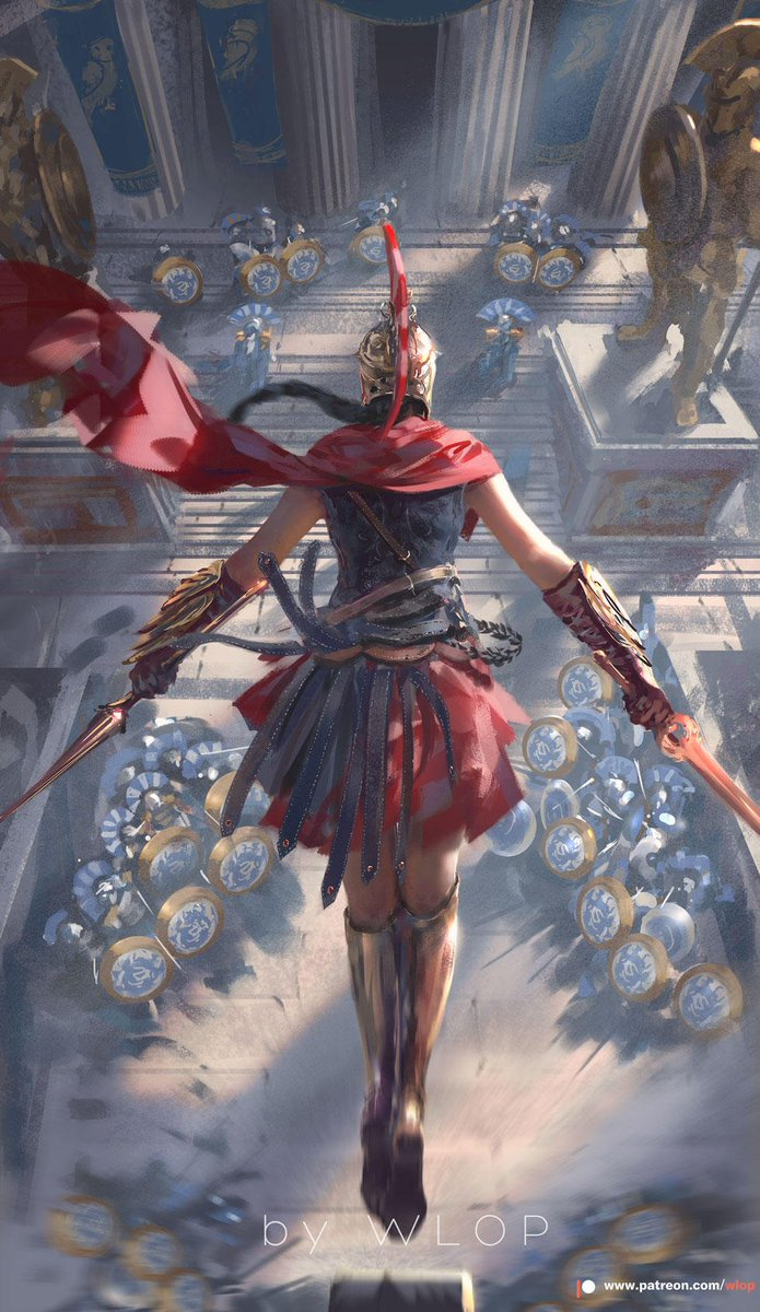 Anime Art Di Twitter Assassin S Creed Odyssey By Wlop