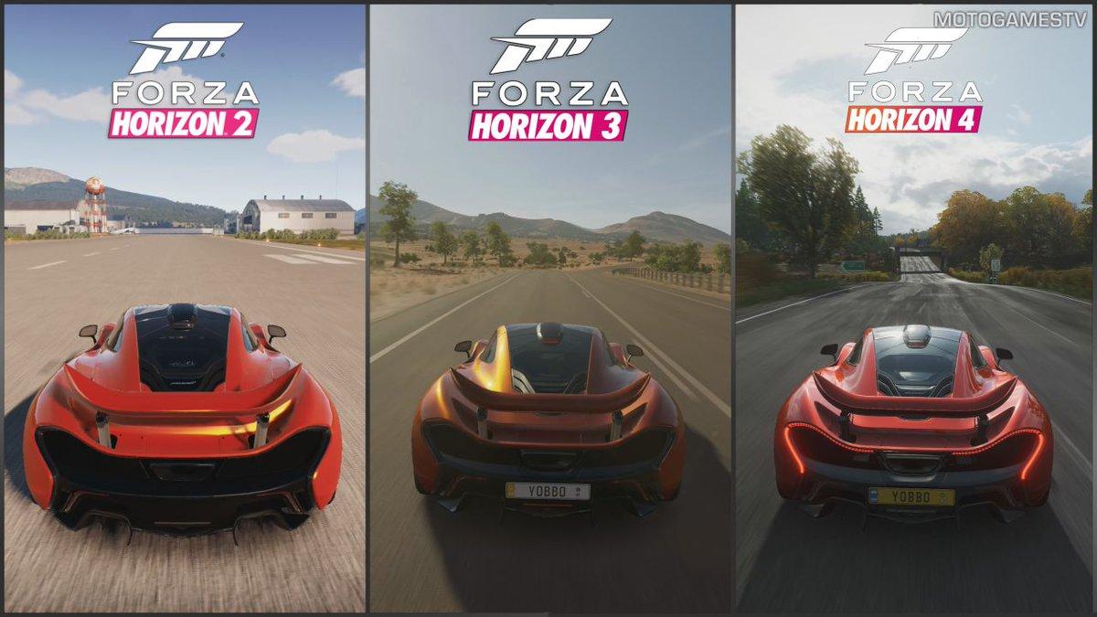 "motogames on twitter: ""forza horizon 2 vs forza horizon 3 vs forza"