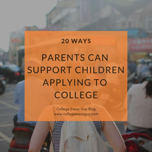 The application process is different for every family, but here are 20 important things for parents to keep in mind while helping their children get into college: goo.gl/NFGFfc (A big thanks to Lisa Heffernan of @GrownandFlown for contributing many of these tips!)