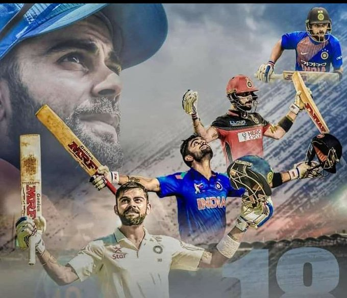 HAPPY BIRTHDAY VIRAT KOHLI CRICKET LA ENNUM NERAYA RECORDS BREAK PANNANUM THALAIVA NEE LOVE U VK