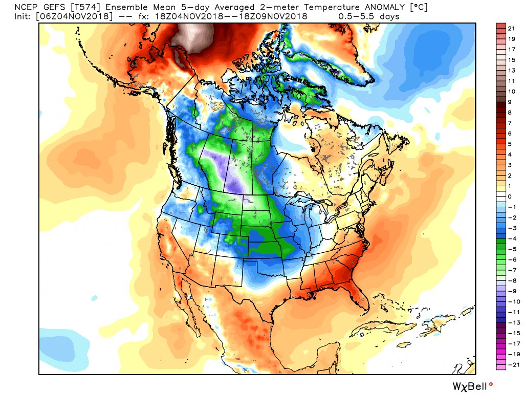 Bitter cold is going to overtake the Central and Eastern US over the next week.