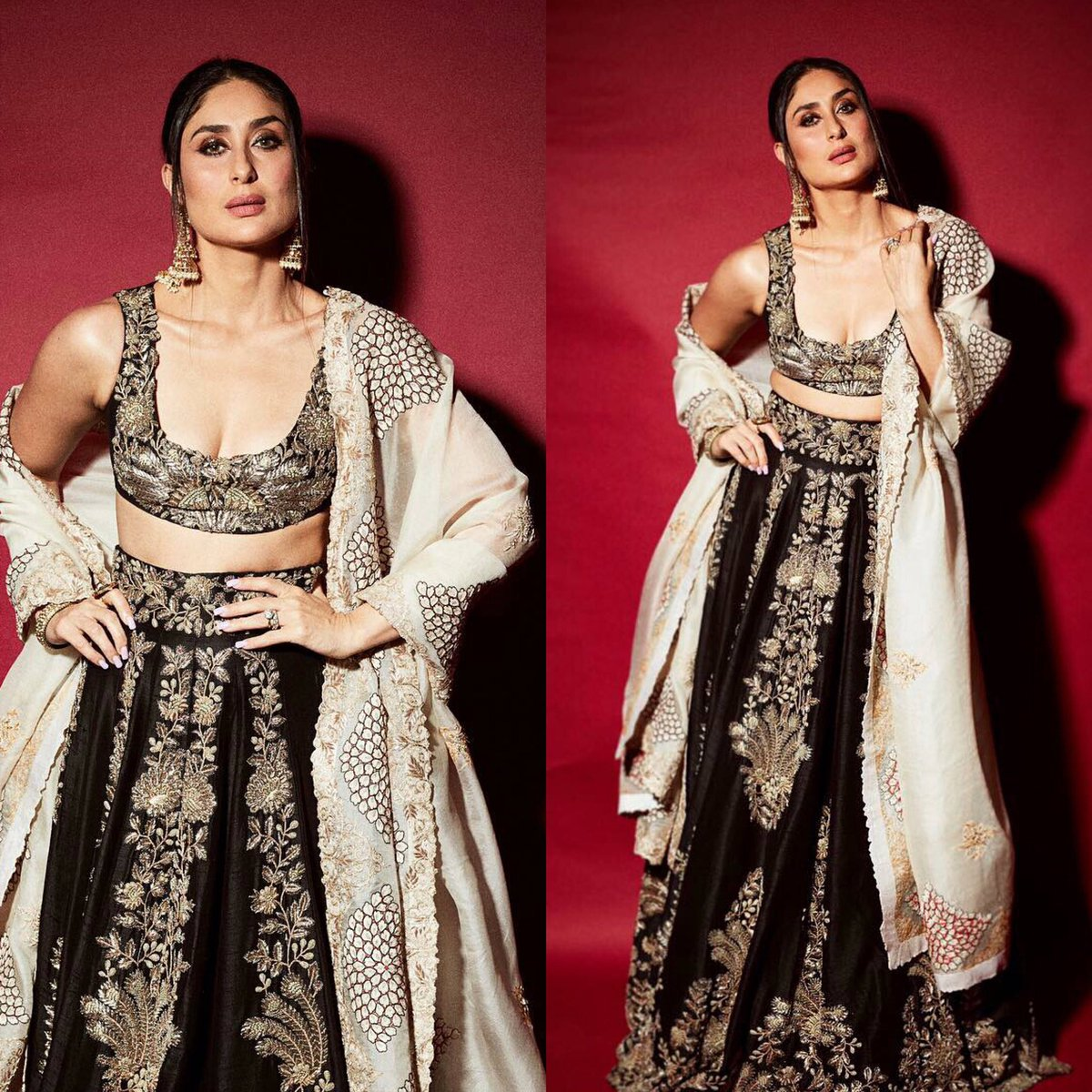 #KareenaKapoorKhan at #Shahrukhkhan 's Diwali Bash  Outfit: #anamikakhanna Jewelry: #sunitashekhawat  Makeup: #savleenmanchanda  Styled by: #mohitrai   #diwaliparty #Kareenakapoor #SRK #diwalibash #fashion #bollywood #bollywoodstyle