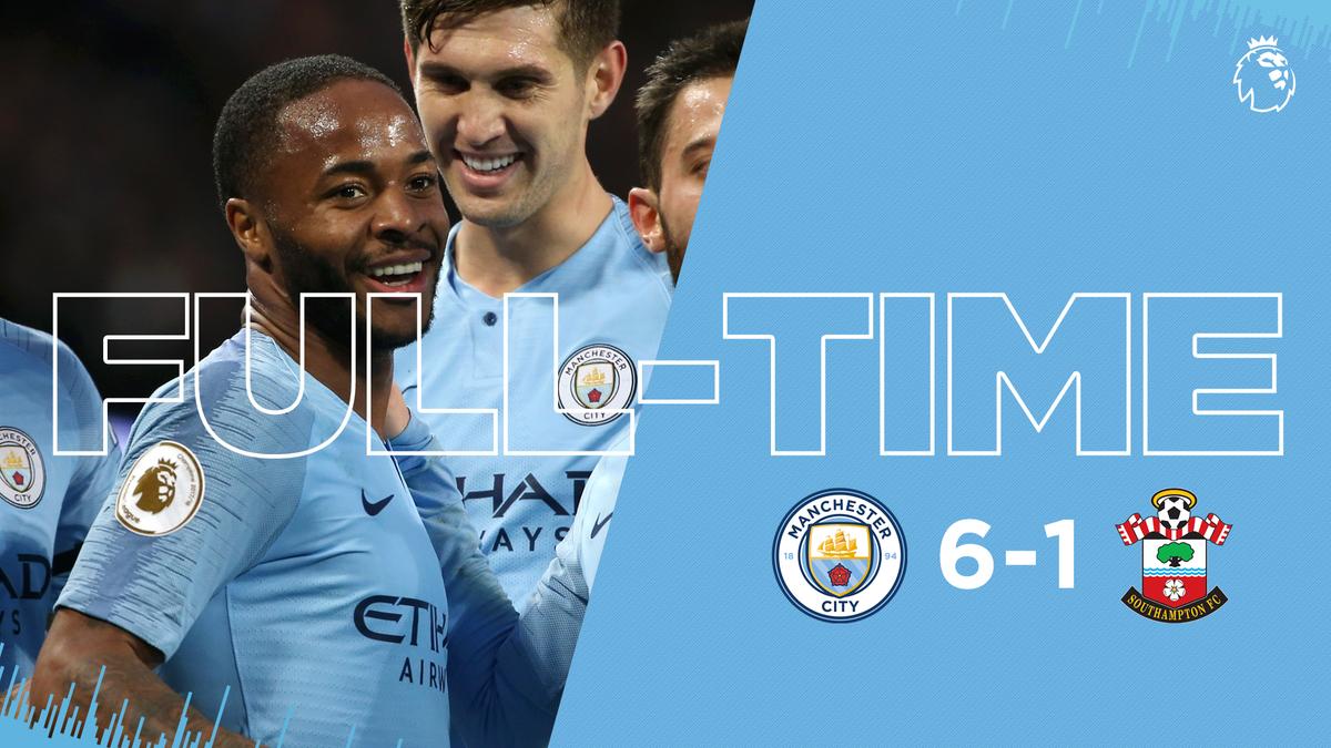 Chấm điểm kết quả Manchester City 6-1 Southampton