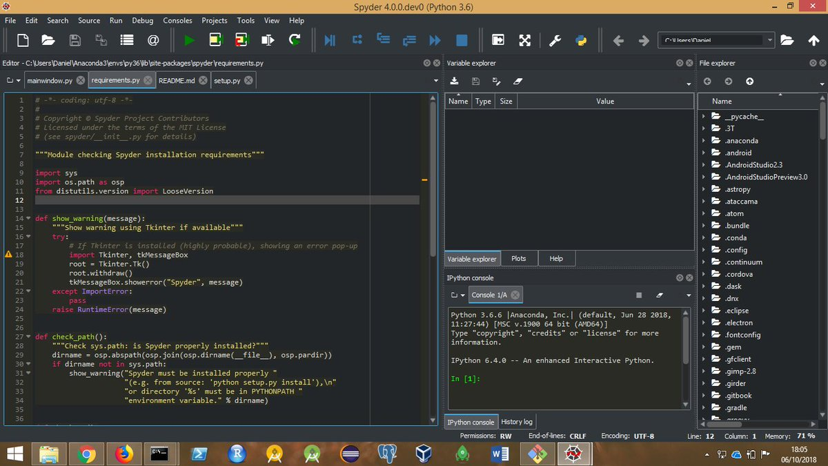 """Spyder IDE on Twitter: """"If you like PyCharm's dark theme, check out an early version of what we've got coming in Spyder 4!… """""""