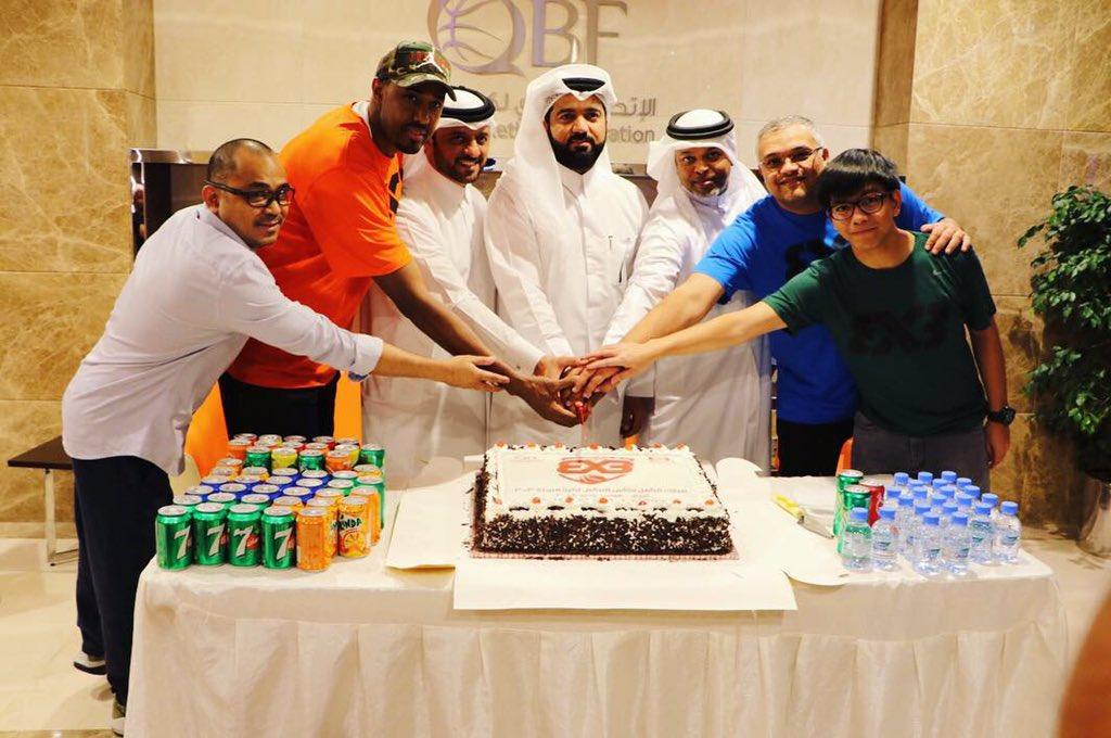 اتحاد السلة يحتفل بالتأهل الى كأس العالم 3×3
