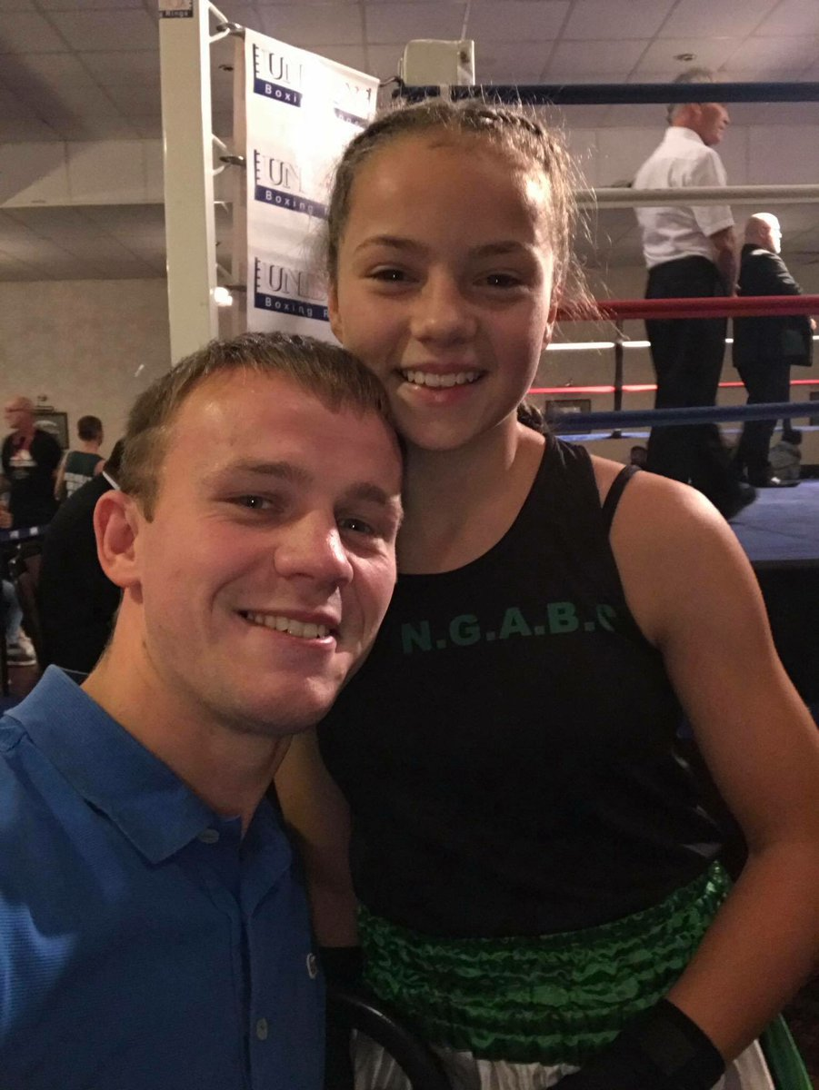 #ThisGirlCan Congratulations to this young lady today who made her debut in  a #amateurboxing ring. We hope you enjoyed your very first experience.