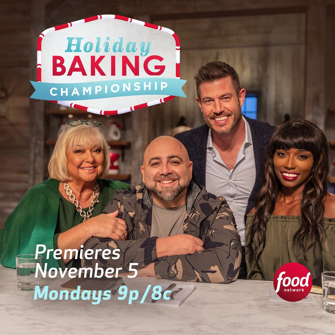 Just one more day!!!!! #holidaybakingchampionship on #foodnetwork 🎂🎉 https://t.co/YIR7eNs4hX