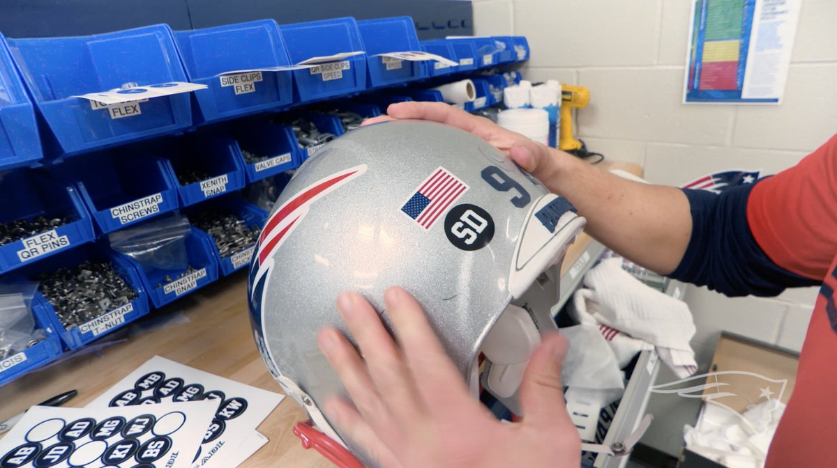 Tonight, we play for those who made the ultimate sacrifice.  #Patriots players and coaches will represent local servicemen and women with helmet stickers and pins: http://bit.ly/2JE4xok  #SaluteToService