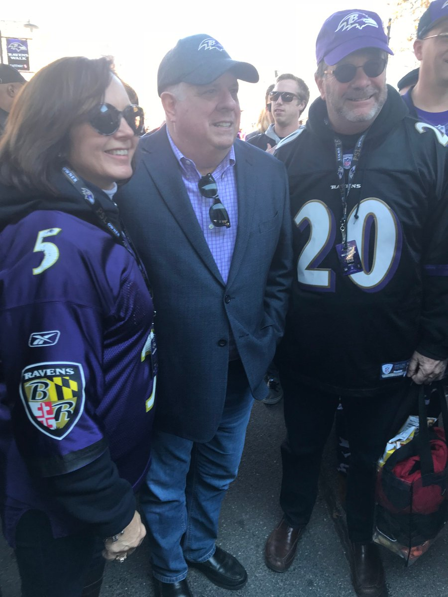 Was out with fans tailgating in @Ravens country early this morning - hope everyone enjoys the game! #ravensflock