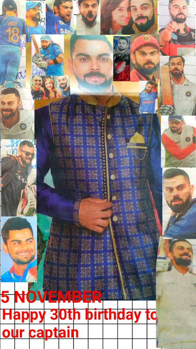 Happy Birthday to virat kohli and wishes you to alive 100 yrs
