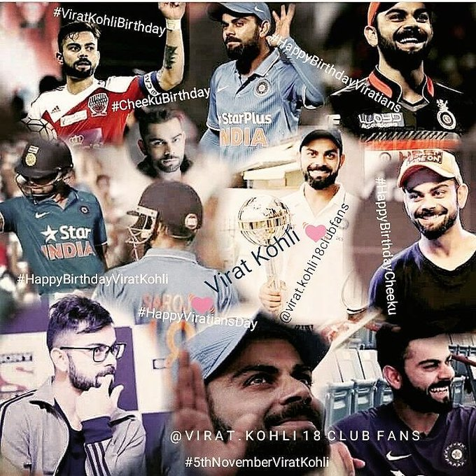 """One SUN, One MOON so does One ViRAT KOHLI\""   love u virat  Happy birthday"