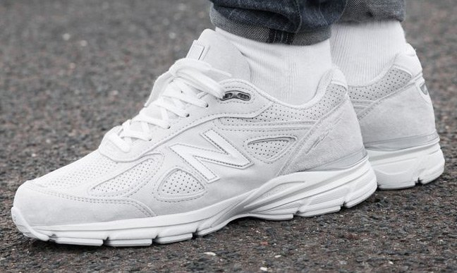 new balance 990v4 sneakers in arctic fox