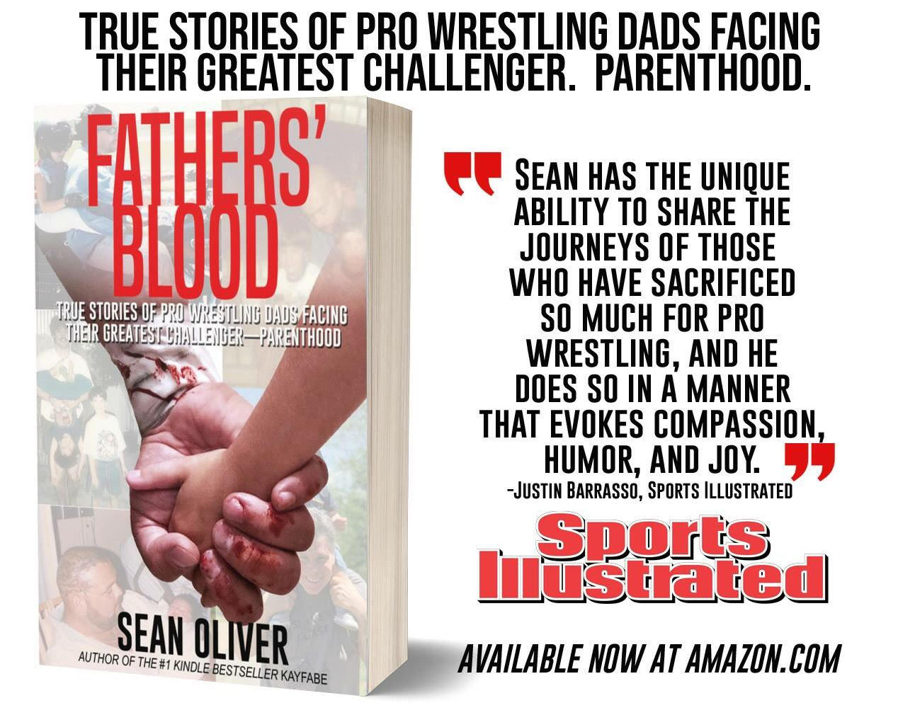 Sean Oliver - True stories of pro wrestling dads facing their greatest challenger - parenthood - book cover
