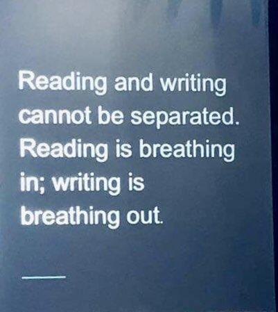 """""""Reading is breathing in; writing is breathing out."""" #JoyfulLeaders #EduAR #RISEArkansas"""