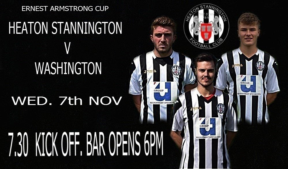 Get yourself along to Grounsell Park on Wednesday for our Ernest Armstrong 2nd round tie against Washington. Admission £5,£2 & kids free. Can we keep this fantastic unbeaten run going.
