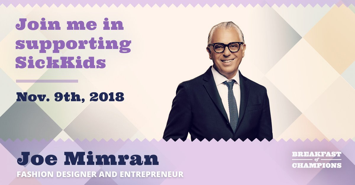 Breakfast Of Champions On Twitter Joe Mimran Is A Retail Fashion And Business Pioneer Who Has Founded Some Of Canada S Most Iconic Brands Joe Fresh Club Monaco Caban And Alfred Sung You