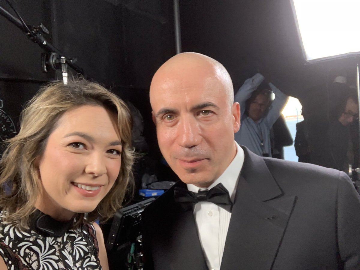 """At the 7th annual @brkthroughprize awards with @yurimilner aka the """"Oscars of Science"""" — and nearly my 7th time interviewing him here in a tux (lost count)!"""