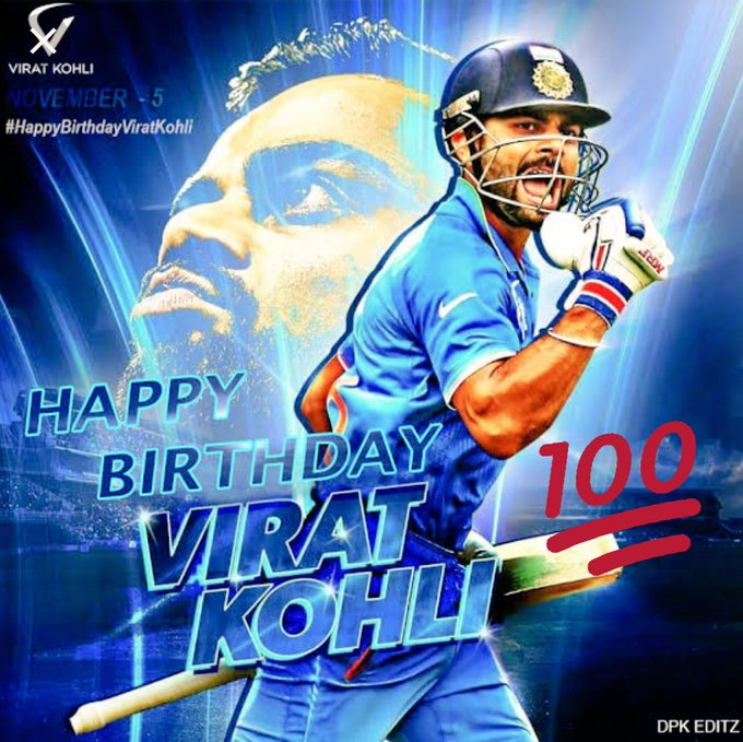 The man with Unstoppable records peak levels of Determination and Dedication Happy birthday# Virat Kohli