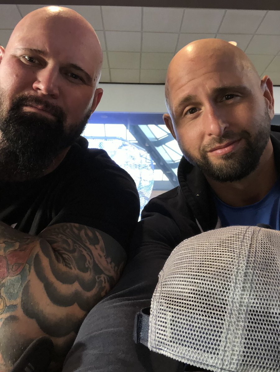 #TheBoys are headed out to #WWEManchester for #WWEUKTour .. Don't worry guys, we are on our way to #LiftMorale , and most importantly #PopTheBoys .. #ItsNotYouBabyItsTheRoadThatsCallin @LukeGallowsWWE @WWE