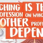 Image for the Tweet beginning: Thank you, teachers.