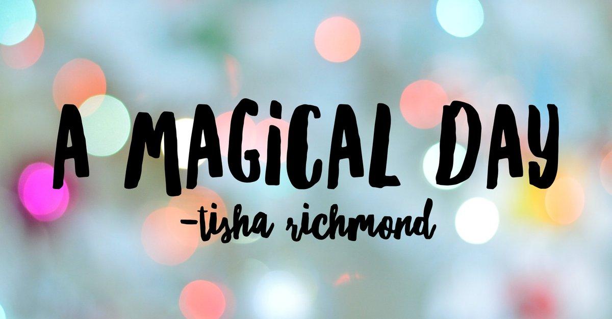 New post...A Magical Day! tisharichmond.com/1/post/2018/11… #MLmagical #REALedu #tlap #xplap #OrEdChat