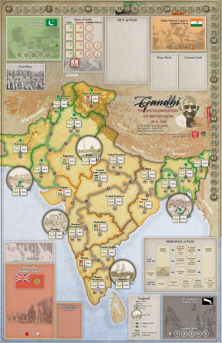 English Boardgame by GMT UPDATE KIT Andean Abyss: Insurgency in Colombia New