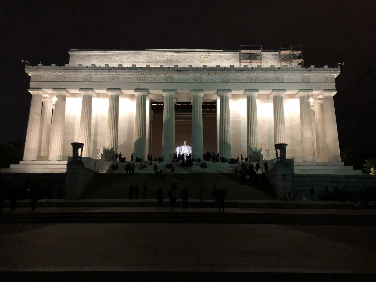 Standing on the steps of the Lincoln Memorial right before #ElectionDay and staring across the Reflecting Pool, I am awed by the weight and magnitude of the nations's history. Please use your voice on Tuesday! #GoVote
