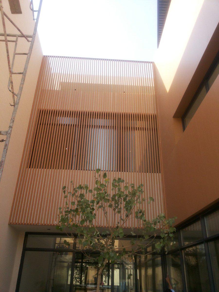 شركة سارية القصر الصناعية On Twitter تنفيذ تيوبات المنيوم بلون خشبي لأحد المشاريع
