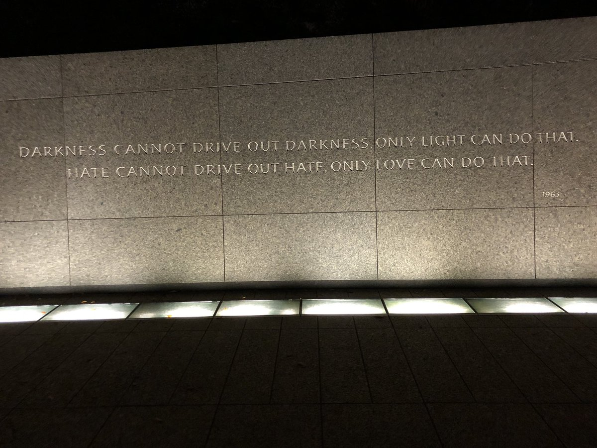 Some powerful words to inspire us. – at Martin Luther King, Jr. Memorial