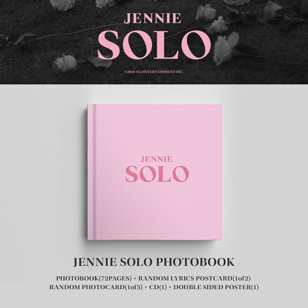#JENNIE [ #SOLO ] PHOTOBOOK Pre-order notice has been uploaded.  ➡️ https://t.co/nn7ybAmeib  #BLACKPINK #블랙핑크 #제니