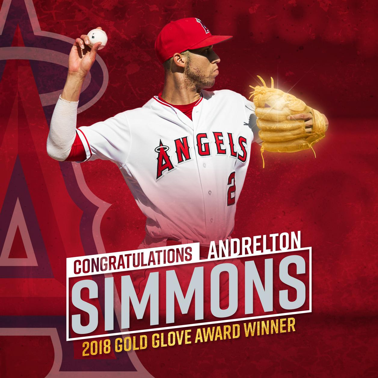 ��All that glitters is goOoOoOold��  Congratulations to @Andrelton on winning his second Gold Glove Award as an Angel! https://t.co/zh0metGFG6